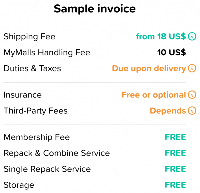 Shipping Cost Example Invoice