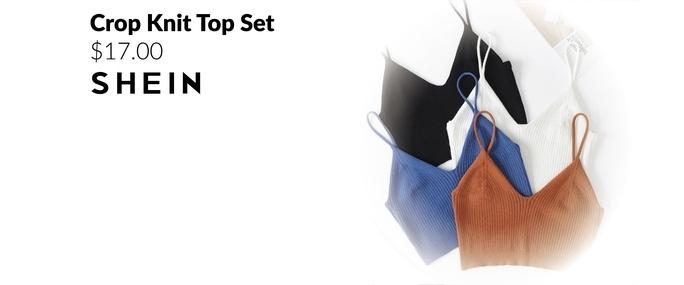 Crop Knit Top Set