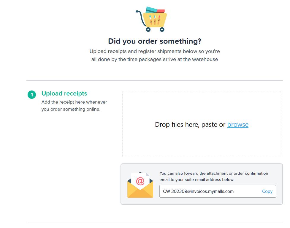 Upload InVoice Package Preregistration